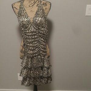 Leapord print halter Dress